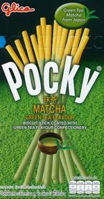 Japansk Slik - Pocky: Pocky Matcha Green Tea Flavour (Udløbsdato 09/10 - 2019, derfor tilbud) - TILBUD (så længe lager haves, der tages forbehold for udsolgte varer).