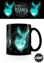 Harry Potter Merchandise: Glow In The Dark Mug Expecto Patronum.
