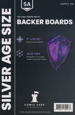 ComiCare Backer Boards: Silver Size Backer Boards (100pc).