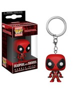 Pop! Figures - Keychain: Marvel  Deadpool Pocket - Deadpool with Swords Keychain (1)