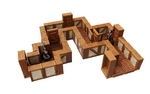 WARLOCK TILES: Expansion Pack - 1 in Town & Village Straight Walls (90)
