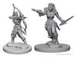 D&D NOLZURS MARVELOUS UNPAINTED MINIS: Elf Female Ranger (2)