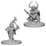 D&D NOLZURS MARVELOUS UNPAINTED MINIS: Dwarf Female Barbarian (2)