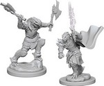 D&D NOLZURS MARVELOUS UNPAINTED MINIS: Dragonborn Female Fighter (2)
