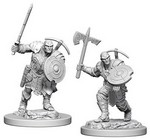 D&D NOLZURS MARVELOUS UNPAINTED MINIS: Earth Genasi Male Fighter (2)