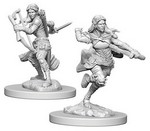 D&D NOLZURS MARVELOUS UNPAINTED MINIS: Air Genasi Female Rogue (2)
