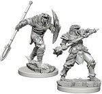 D&D NOLZURS MARVELOUS UNPAINTED MINIS: Dragonborn Fighter with Spear (2)