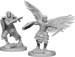 D&D NOLZURS MARVELOUS UNPAINTED MINIS: Aasimar Fighter, Male (2)