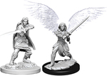 D&D NOLZURS MARVELOUS UNPAINTED MINIS: Aasimar Fighter, Female (2)