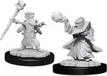 D&D NOLZURS MARVELOUS UNPAINTED MINIS: Male Gnome Wizard (2)