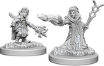 D&D NOLZURS MARVELOUS UNPAINTED MINIS: Female Gnome Wizard (2)