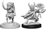 D&D NOLZURS MARVELOUS UNPAINTED MINIS: Female Halfling Fighter (2)