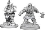 D&D NOLZURS MARVELOUS UNPAINTED MINIS: Male Dwarf Barbarian (2)