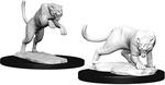 D&D NOLZURS MARVELOUS UNPAINTED MINIS: Panther & Leopard (2)