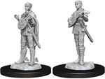 D&D NOLZURS MARVELOUS UNPAINTED MINIS: Half-Elf Female Bard (2)