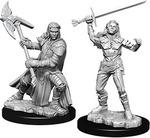 D&D NOLZURS MARVELOUS UNPAINTED MINIS: Female Half-Orc Fighter (2)