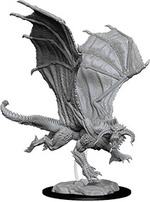 D&D NOLZURS MARVELOUS UNPAINTED MINIS: Young Black Dragon (1)