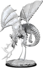 D&D NOLZURS MARVELOUS UNPAINTED MINIS: Young Blue Dragon (1)