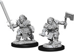 PATHFINDER DEEP CUTS UNPAINTED MINIS: Female Dwarf Barbarian (2)