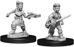 PATHFINDER DEEP CUTS UNPAINTED MINIS: Female Halfling Rogue (2)