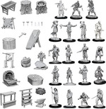 PATHFINDER DEEP CUTS UNPAINTED MINIS: Townspeople & Accessories (42)
