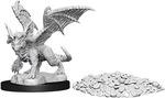 D&D NOLZURS MARVELOUS UNPAINTED MINIS: Blue Dragon Wyrmling (1)