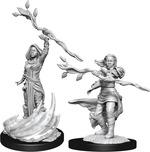 D&D NOLZURS MARVELOUS UNPAINTED MINIS: Human Druid Female (Wave 14) (2)