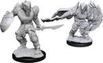 D&D NOLZURS MARVELOUS UNPAINTED MINIS: Dragonborn Fighter Male (2)
