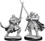 D&D NOLZURS MARVELOUS UNPAINTED MINIS: Half-Orc Paladin Male (2)