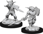 D&D NOLZURS MARVELOUS UNPAINTED MINIS: Male Goblin Rogue & Female Goblin Bard (2)