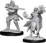 D&D NOLZURS MARVELOUS UNPAINTED MINIS: Hobgoblin Fighter Male & Hobgoblin Wizard Female (2)