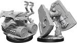 D&D NOLZURS MARVELOUS UNPAINTED MINIS: Stone Defender & Oaken Bolter (2)