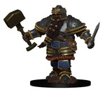D&D ICONS OF THE REALM PREMIUM FIGURES: Dwarf Male Fighter (1)
