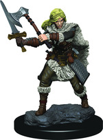 D&D ICONS OF THE REALM PREMIUM FIGURES: Human Female Barbarian (1)