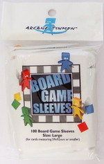 SLEEVES - BOARD GAME - Large Cards (100) (fits cards of 59x92mm or smaller)