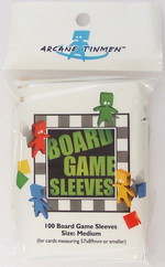 SLEEVES - BOARD GAME - Medium Cards (100) (fit cards of 57x89mm or smaller)
