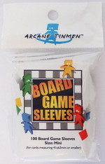 SLEEVES - BOARD GAME - Mini Cards (100) (fit cards of 41x63mm or smaller)