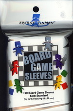 SLEEVES - BOARD GAME - Standard  (100) (fit cards of 63x88mm)