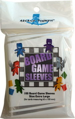 SLEEVES - BOARD GAME - Extra Large Cards (100) (fits cards of 65x100mm or smaller)