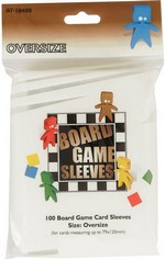 SLEEVES - BOARD GAME - Oversize Cards (100) (fit cards of 79x120mm or smaller)