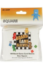 SLEEVES - BOARD GAME - Square Cards (100)  (fit cards of 70x70mm or smaller)