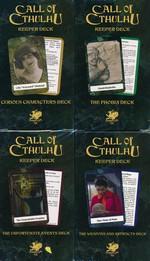 CALL OF CTHULHU - 7TH EDITION - Keeper`s Decks (Set of 4 Card Decks) (inc. PDF)