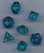 TERNINGER - BOREALIS - Teal/gold (7)