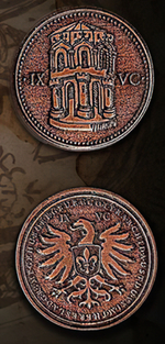 LEGENDARY COINS - Capitol  Copper Coin (1stk)