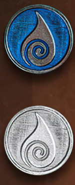 LEGENDARY COINS - ELEMENTS - Water Element Coin (1stk)