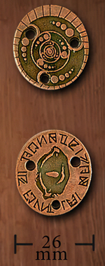 LEGENDARY COINS - Alien Coin Copper (1stk)