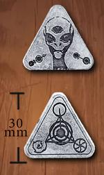 LEGENDARY COINS - Alien Coin Silver (1stk)