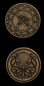 LEGENDARY COINS - Cthulhu Coin Gold (1stk)
