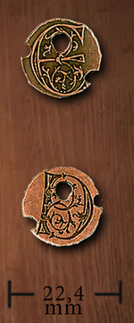 LEGENDARY COINS - Drow Coin Copper (1stk)