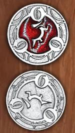 LEGENDARY COINS - RPG SPELL TOKEN - RPG Spell Token Red 6 (1stk)